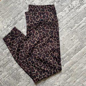 Varley Luna Leopard Print High Rise Legging XL